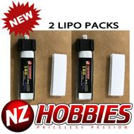 NZHOBBIES 1S 3.7V 180Mah 45C Lipo Battery (2) : HobbyZone Champ Force FHX/MH-35