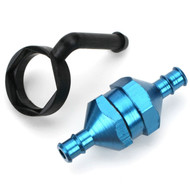 DuBro 2306 In-Line Fuel Filter Alum w/Plug Blue # DUBC2306