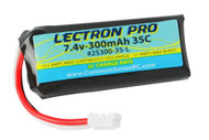 Lectron Pro 7.4V 300mAh 35C Lipo Battery with UMX Connector for the Blade 130 X, mCP X BL, and UMX Planes