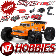 ARRMA AR106027 1/8 Outcast 6S RTR 4WD Stunt Truck w/ 2.4GHz Radio Orange