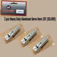 NZ HOBBIES Aluminum Servo Horn 25T (Silver) Axial, Futaba & Savox Servos (3pcs)