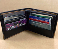 New Men's Luxury Soft Genuine Black Leather Credit Card Holder, Wallet, Purse