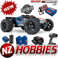 Traxxas 86086-4 E-REVO 2.0 VXL ORANGE RTR 4WD Monster Truck w/Two 3s Lipo & Charger