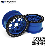 "Vanquish Products VPS08035 KMC 2.2 XD127 BULLY (1.2"" WIDE) BLUE/BLACK ANODIZED"