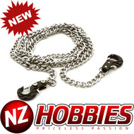 Integy INTC26493BLK Realistic 1/10 Metal Drag Chain w/ Tow Hooks