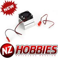 Integy Super Brushless Motor Heatsink+Cooling Fan 540 Size # C23140SILVER