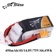 Tattu 450mAh 14.8V 75C 4S1P Lipo Battery Pack with XT30 plug
