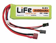 Hobbico HCAM6436 LiFeSource LiFe 6.6V 2100mAh 10C Reciever Battery Pack