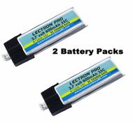 Lectron 1S600-35U 600mAh 1S 3.7V 25C LiPo (2 Pack) w/ UMX : Blade Inductrix BL