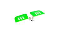 Blade BLH1828GR Blade 500 3D Flybar Paddle Set, Green