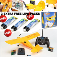 Hobbyzone HBZ4900 Champ RTF 2.4GHz RC Airplane w/ THREE EXTRA FREE LIPO PACKS
