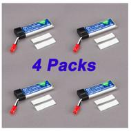 4 Pack EFlite 180 QX 500mAh 1-Cell 3.7V 25C LiPo Battery QUADCOPTER Blade 180 QX