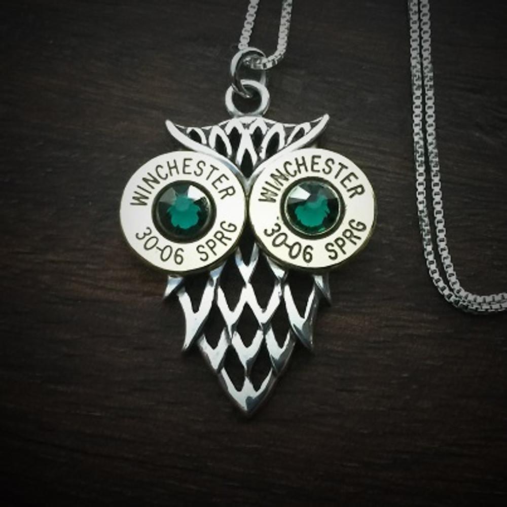 Owl Bullet Necklace