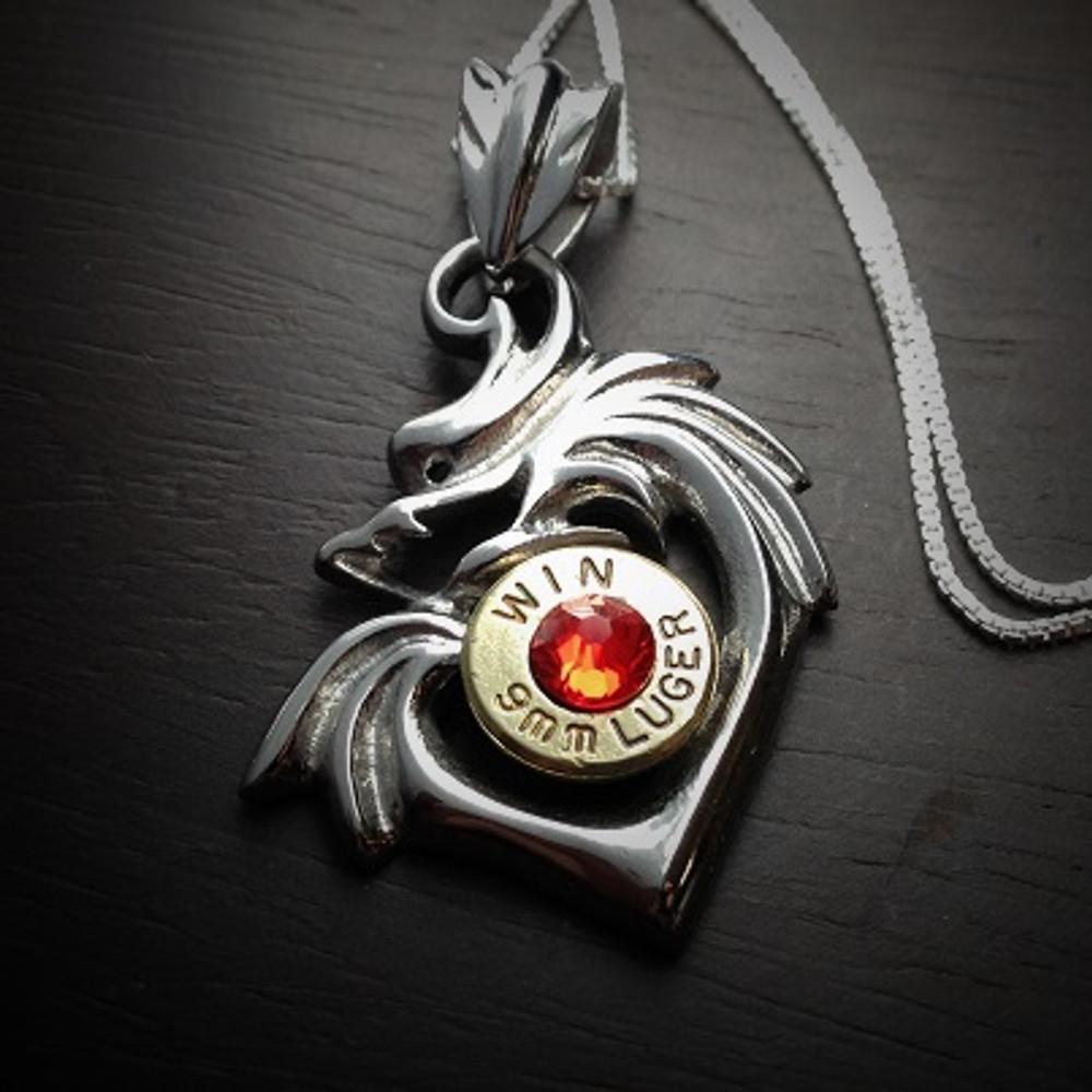 Dragon Heart Bullet Necklace