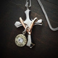 Cross My Heart Bullet Necklace