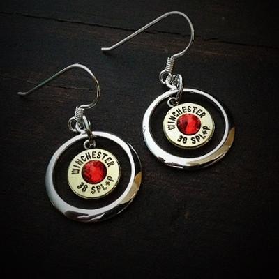 Ring of Fire Bullet Earrings