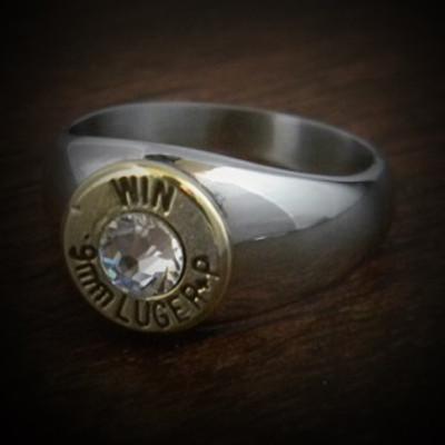 Markswoman Steel Bullet Ring