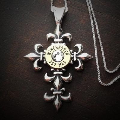 Fleury Cross Bullet Necklace
