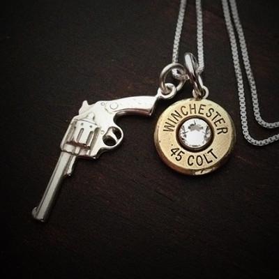 Revolver Bullet Necklace
