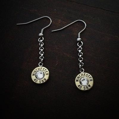 Classic Dangle Bullet Earrings