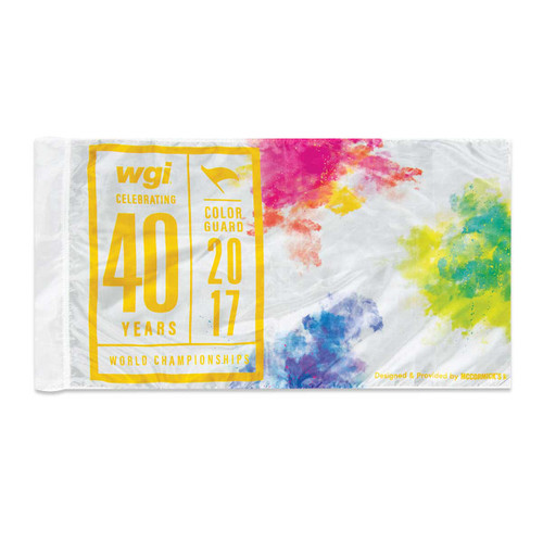 WGI 40th Anniversary Flag