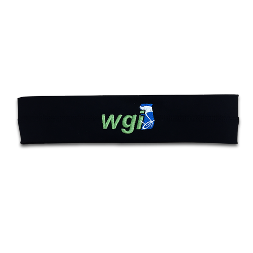 WGI Embroidered Black Headband - Online Exclusive*