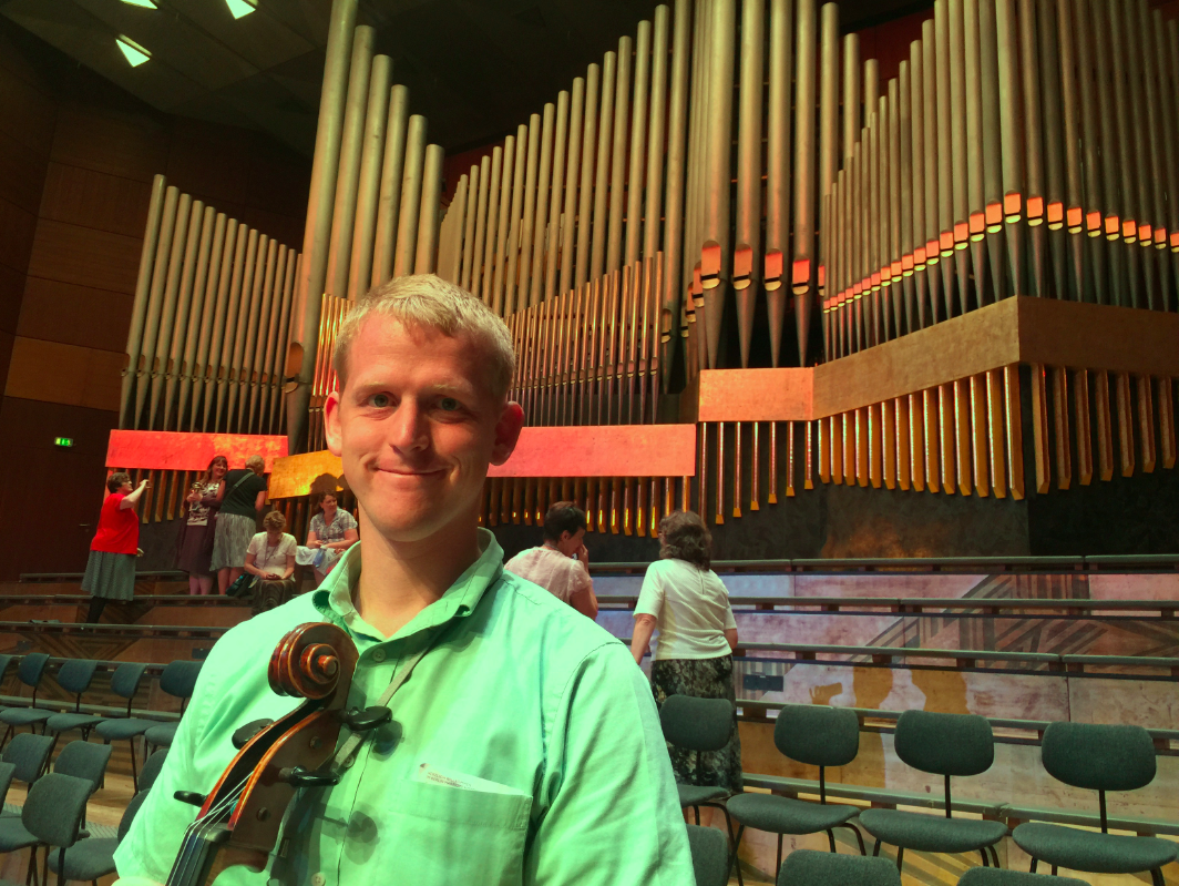 Greg With Cello at Meistersingerhalle