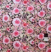 Dena Designs PWDF120 London Manchester Black Floral Fabric By Yard