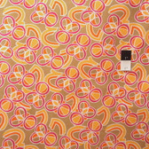 Mark Cesarik PWMC019 Cosmic Burst Radio Waves Orange Fabric By The Yard
