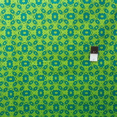 Mark Cesarik PWMC020 Cosmic Burst Solar Panels Teal Fabric By The Yard