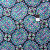 Mark Cesarik PWMC021 Cosmic Burst Gamma Ray Teal Fabric By The Yard