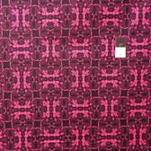 Mark Cesarik PWMC025 Cosmic Burst Venus Trap Black Cotton Fabric