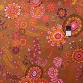 Valori Wells PWVW039 Karavan Kashmir Fig Cotton Fabric By The Yard