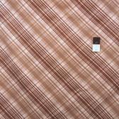 Verna Mosquera PWVM091 Pirouette Tartan Mocha Fabric By Yd