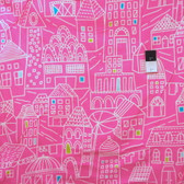 Erin McMorris FEM06 Irving Street Downtown Pink Flannel Fabric By The Yard