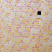 Kathy Davis PWKD089 Cutie Pie & Lullabies Ducks Pink Fabric By Yard