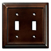 085-03-1462  Architect Espresso Double Switch Combo Cover Plate