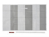 085-03-2811 Tear Away Picture Hanging Grid Paper 6 Sheets
