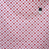 Tanya Whelan PWTW079 Valentine Rose Plaid Hearts Red Fabric By The Yard