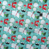 David Walker PWDW095 Winter Wonderland Ice Skate Peppermint Cotton Fabric By Yard
