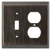 126391 Venetian Bronze Stately Single Switch / Duplex Cover Wall Plate