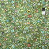 Kaffe Fassett GP01 Roman Glass Leafy Cotton Fabric By The Yard