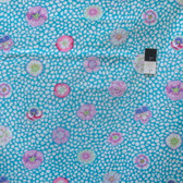Kaffe Fassett GP59 Guinea Flower Turquoise Cotton Fabric By The Yard
