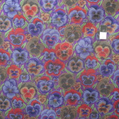 Philip Jacobs PWPJ076 Pansies Purple Cotton Fabric By The Yard