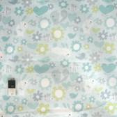 David Walker PWDW114 Sweetheart Hugs Aqua Cotton Fabric By Yard