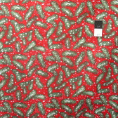 Marjolein Bastin PWMB037 Winter Miracle Pine Branches Berry Fabric By Yard