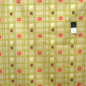 Nel Whatmore PWNW032 Eden Picnic Check Green Cotton Fabric By Yard
