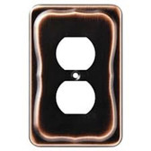 144421 Tenley Bronze & Copper Single Duplex Outlet Cover Wall Plate