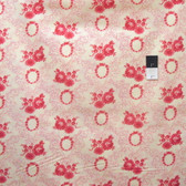 Verna Mosquera PWVM088 Pirouette Rose Wreath Ruby Cotton Fabric By Yd