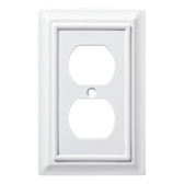 W10766-PW Pure White Architect Single Duplex Cover Plate